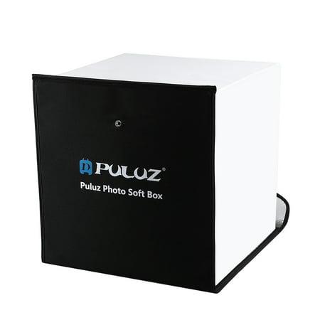 PULUZ Portable LED Photo Lightbox 30 * 30 Centimètre USB Charge Remplir Lumière Studio Softbox avec 6 Couleurs Couleur et support de téléphone pour la photographie de table - image 3 of 7