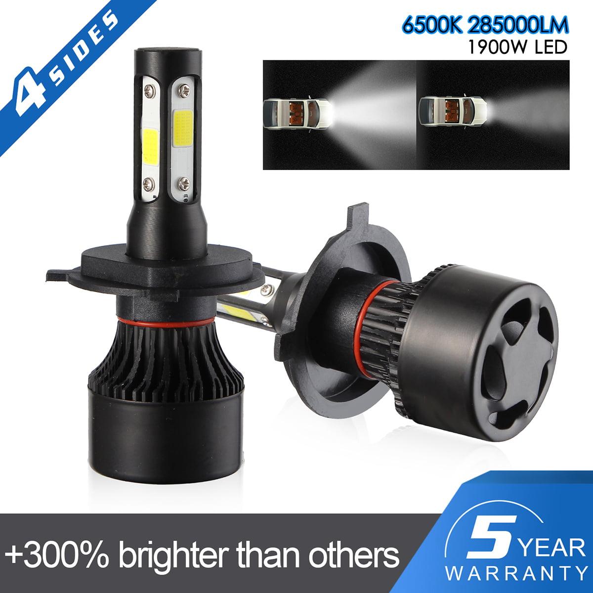 H11 H8 H9 1900W 285000LM LED Headlight Low Beam Bulb Dual Color Car Fog Headlamp