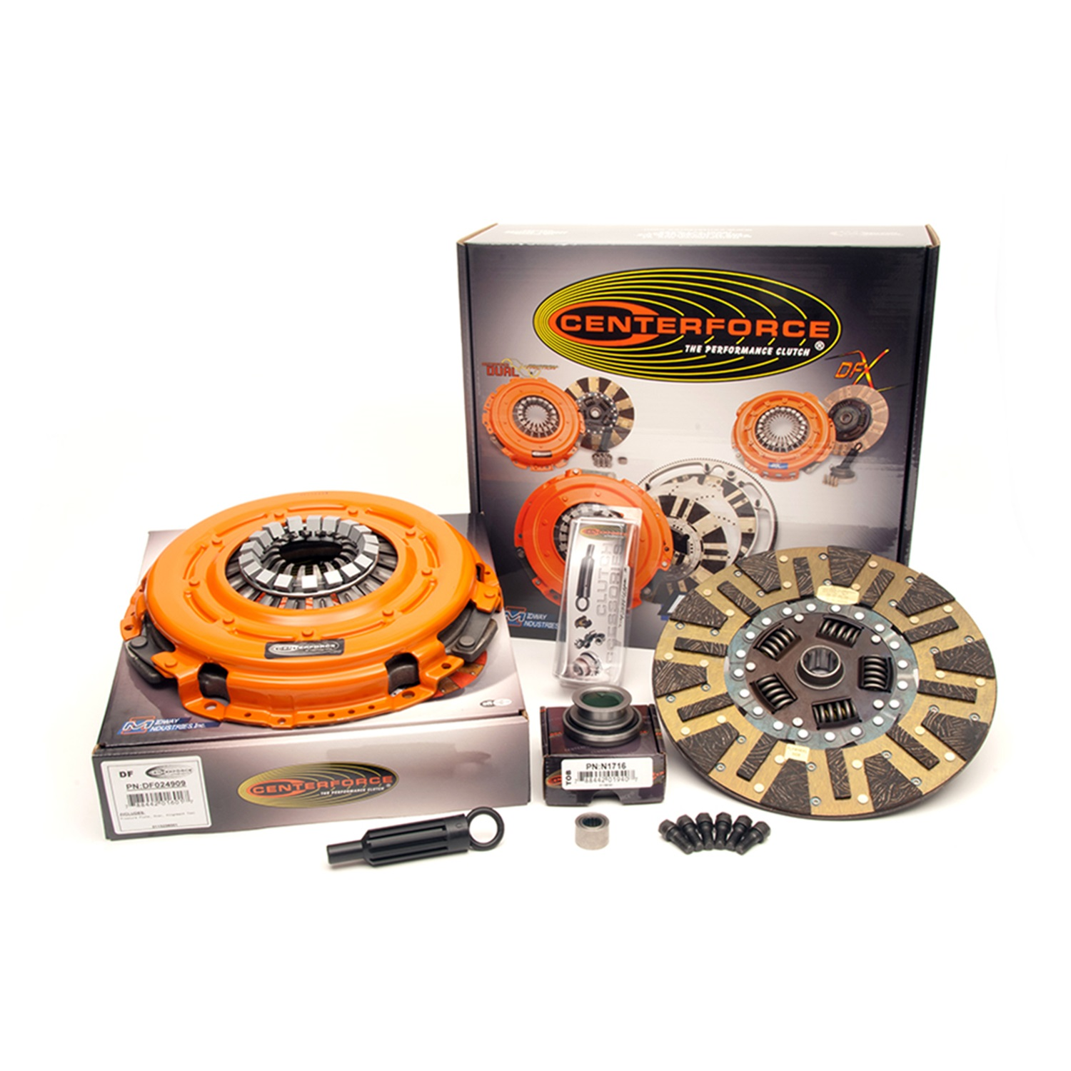 Centerforce KDF240916 Dual Friction Clutch Pressure Plate And Disc Set; Size 12 in.; 10 Spline By 1 1/8 in.; Incl. Pressure Plate/Clutch Disc; Does Not Incl. T.O.B;