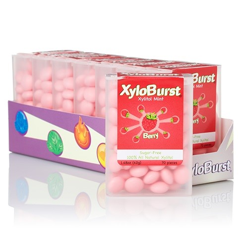 XyloBurst Flip Top Mints, Berry, 60 Ct
