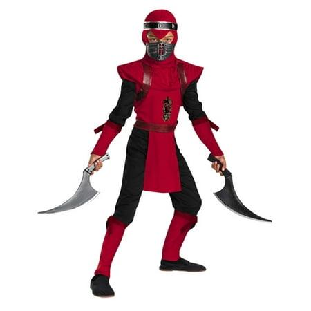 Kid's Red Viper Ninja Deluxe Boy's Costume](Red Ninja)