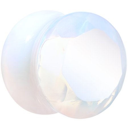 """9/16"""" Opalite Faceted Double Flare Plug (1 Piece)"""