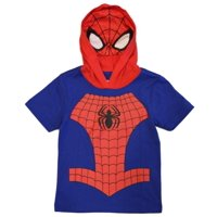 Marvel Avengers Little Boys' Spiderman Hooded Tee with Mask (4)