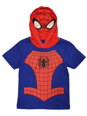 Marvel Avengers Toddler Boys' Spiderman Hooded Tee with Mask (2T)