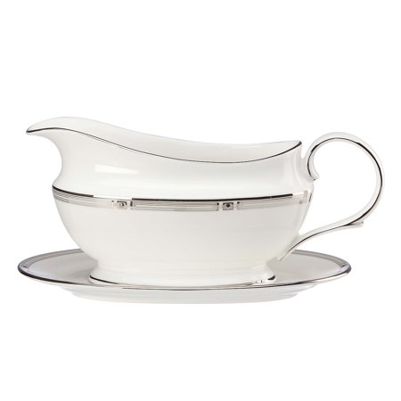 Lenox Westerly Platinum Sauce Boat and Stand