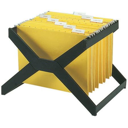 Deflecto, DEFXR206, X-Rack For Hanging Files, 1 Each, Black (Rack For Hanging Folders)