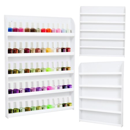 60 bottles clear acrylic 5 tier nail polish salon wall for Acrylic nails walmart salon