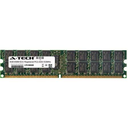 (4GB Module PC2-4200 533MHz ECC Registered DDR2 DIMM Server 240-pin Memory Ram)