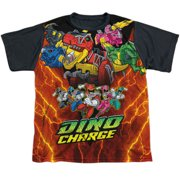 Power Rangers - Zord Power - Youth Short Sleeve Black Back Shirt - Medium