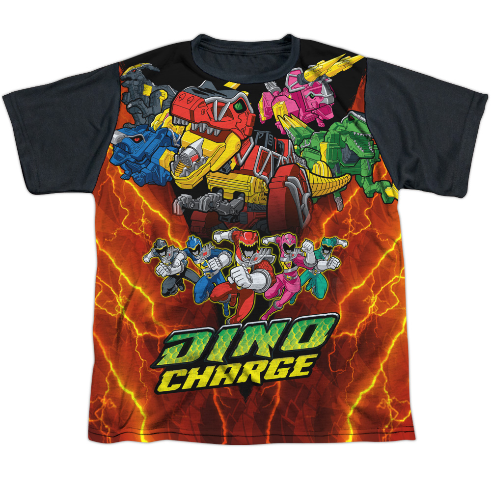 Mighty Morphin Power Rangers Zord Power Big Boys Sublimation Shirt