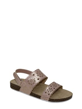 Wonder Nation Girls' Cut Out Foot-bed Sandal
