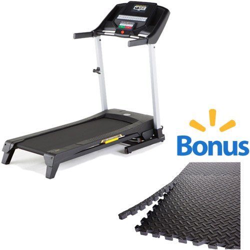 Gold's Gym Trainer 430 Treadmill with BONUS 6-Piece Puzzle Mat Value Bundle