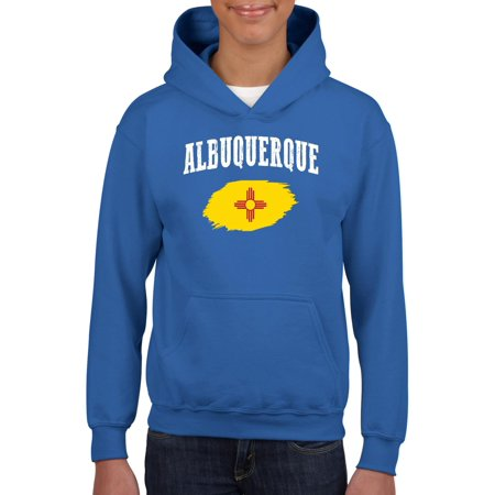 Albuquerque New Mexico Unisex Hoodie For Girls and Boys Youth Sweatshirt thumbnail