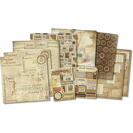 Karen Foster Honoring The Past Scrapbook - Owl Scrapbook Paper