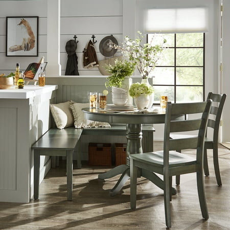 Weston Home Lexington 5 Piece Breakfast Nook Dining Set Round Table