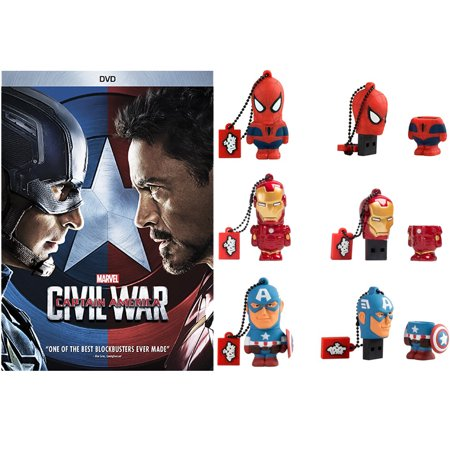 Iron Man Civil War (Captain America: Civil War /Spiderman /Iron Man /Captain America  Your Choice of TRIBE DC/Marvel USB)
