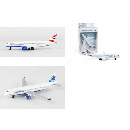 British Airways  American  Jetblue Airlines Diecast Airplane Package   Three 5 5  Diecast Model Planes