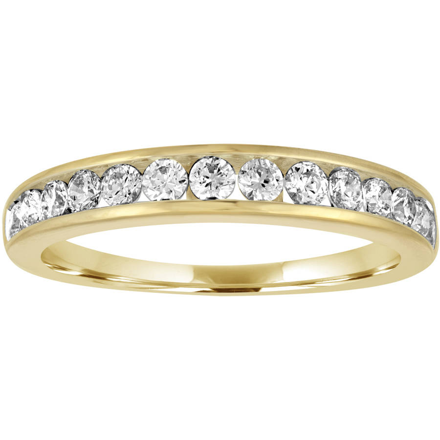 Forever Bride 1 2 Carat T.W. Diamond 10kt Yellow Gold Channel Wedding Band by Generic