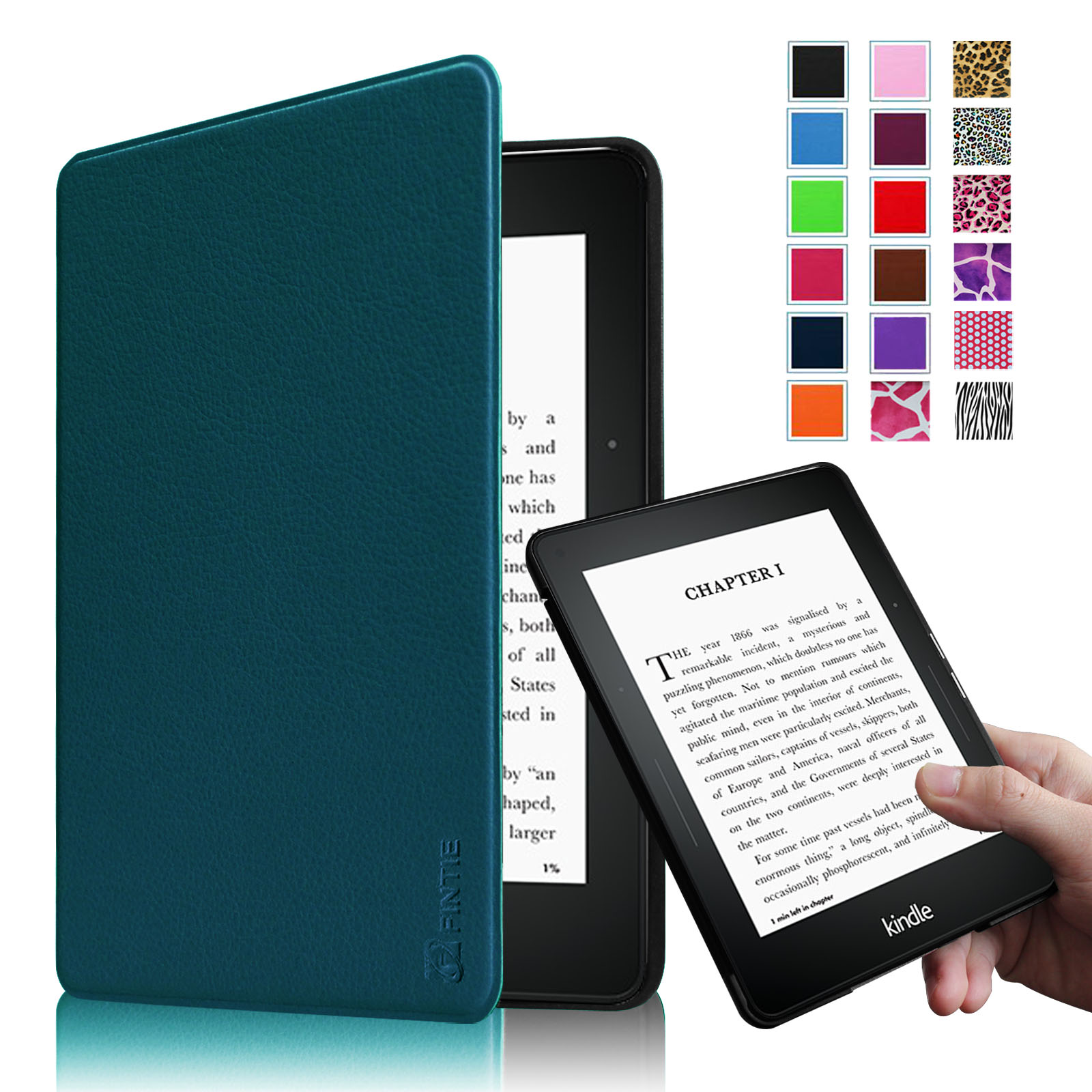 Fintie Amazon Kindle Voyage (2014) Slim Shell Case - The Thinnest and Lightest with Auto Sleep/Wake, Navy