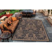 Couristan Recife Garden Cottage Rug, Black/Cocoa