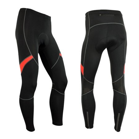 Men's Cycling Bike Pants 3D Gel Padded Bicycle Compression Tights Breathable Thermal Fleece Bike Riding Long Pants Trousers - image 7 de 7