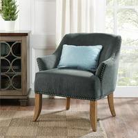 Dorel Living Etta Accent Chair, Gray
