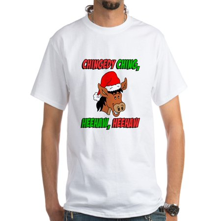2675bb4694335 CafePress - Italian Christmas Donkey White T-Shirt - Men s Classic T-Shirts