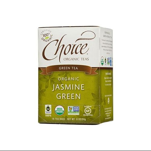 Choice Organic Jasmine Green Tea 20-Count Box (Pack of 6)