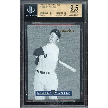 1992 pinnacle mantle #3 MICKEY MANTLE new york yankees BGS 9.5 (9.5 9.5 9.5 9.5) (Pinnacle 3 Way)