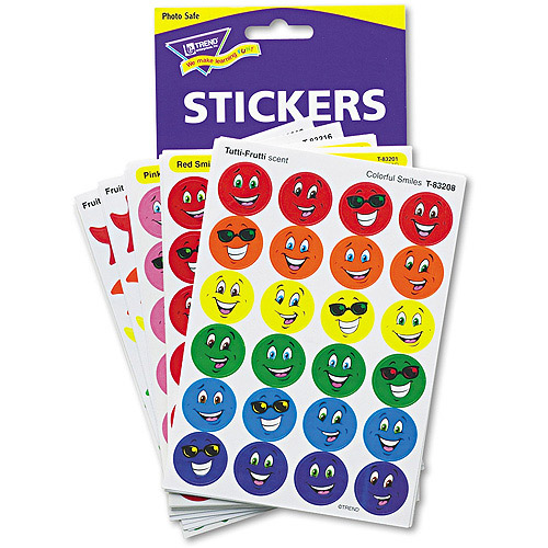 TREND Stinky Stickers Variety Pack, Smiles and Stars, 648pk