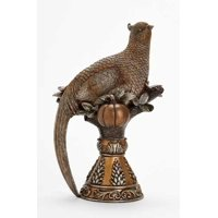 "9"" Thanksgiving Autumn Harvest Bronze Finish Pheasant Table Top Figure"