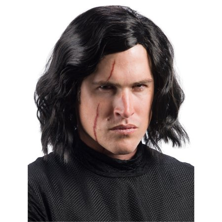 Star Wars Episode VIII - The Last Jedi Adult Kylo Ren Wig with Scar Tattoo (Uncle Fester With Wig)