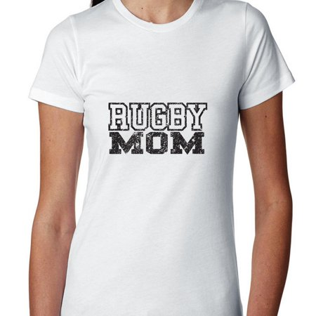 Trendy Rugby Mom Stylish Design Women's Cotton T-Shirt