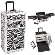 Sunrise I3162ZBWH Zebra Trolley Makeup Case