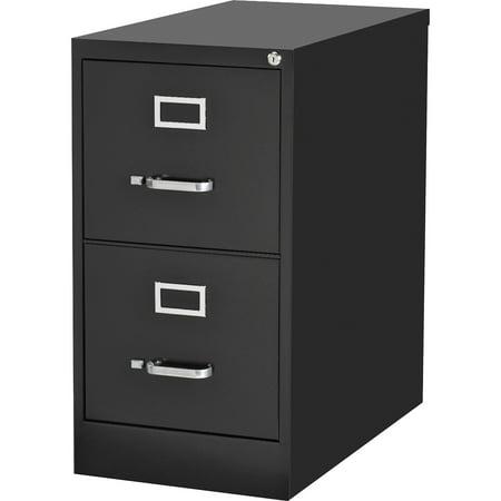 2 Drawers Vertical Steel Lockable Filing Cabinet, Black
