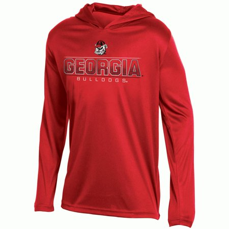 Youth Russell Red Georgia Bulldogs V-Neck Pullover Hoodie - Georgia Bulldogs Hoodie Sweatshirt