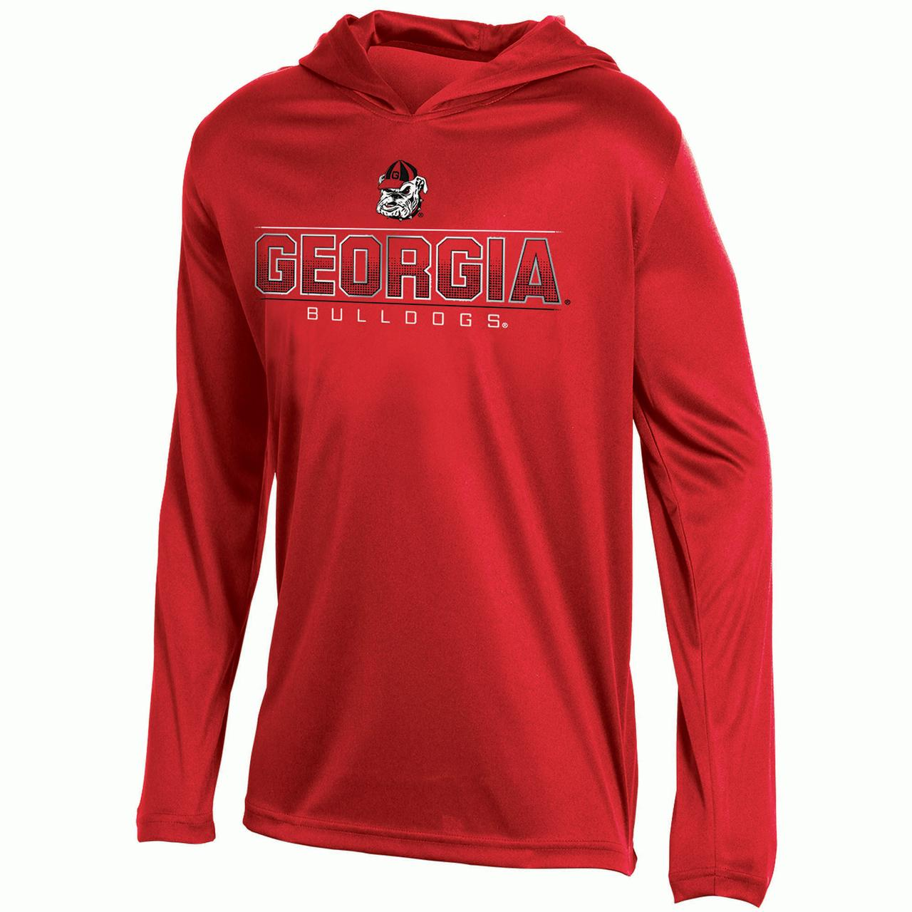 Youth Russell Red Georgia Bulldogs V-Neck Pullover Hoodie
