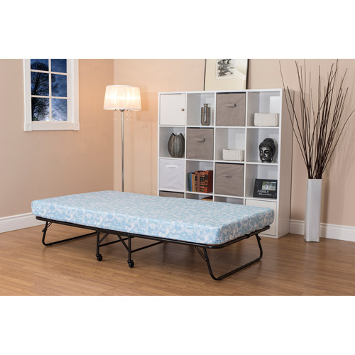 "DHP Folding Guest Bed Frame with 5"" Mattress, Twin Size"