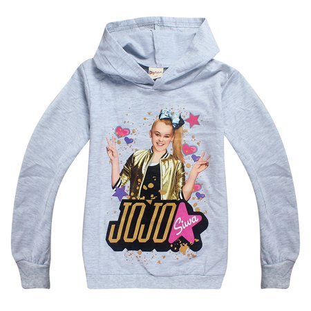 94b98dcb89379 JoJo Siwa Hoodies Casual Sweatshirts Hooded Shirt Tops Clothes for Girls -  Walmart.com