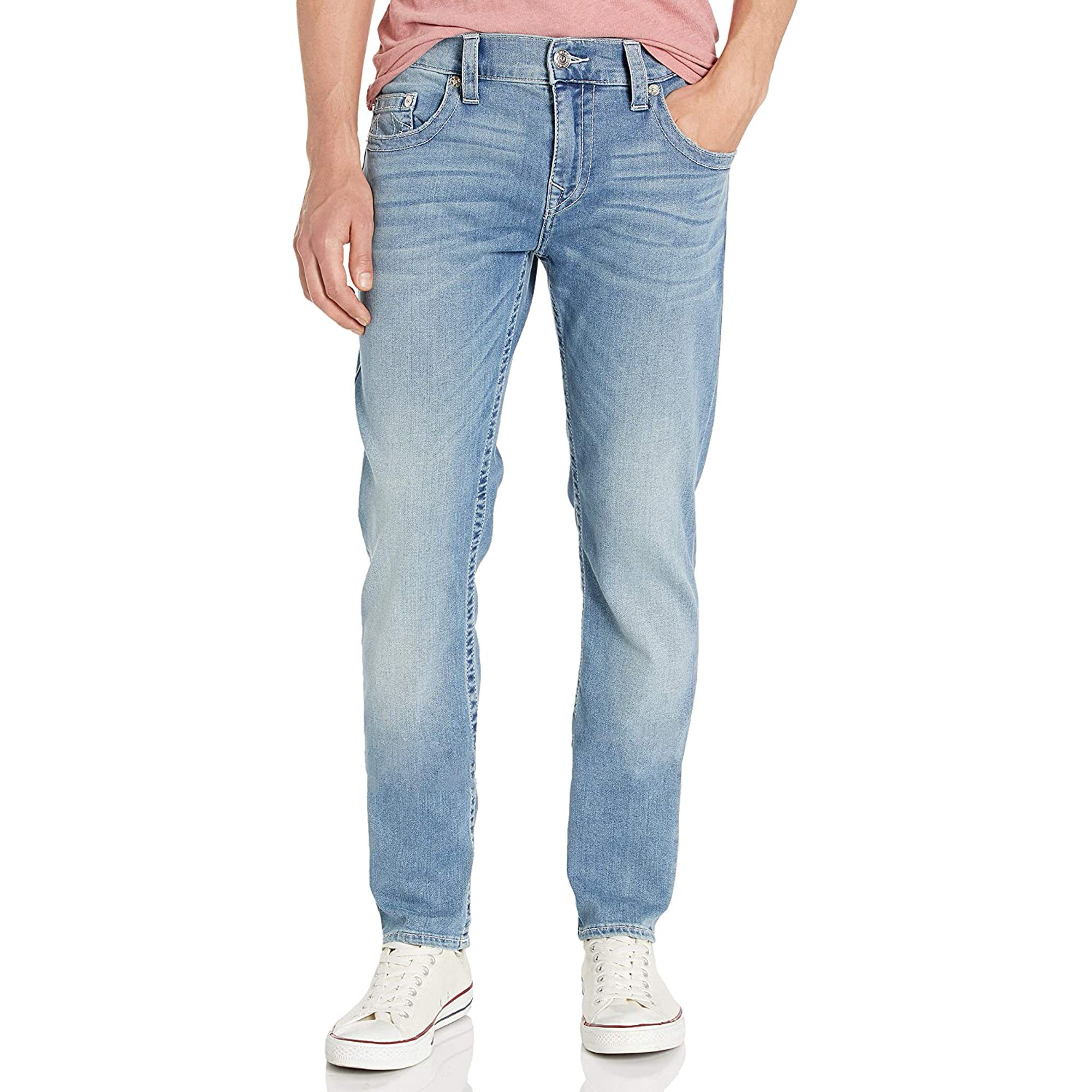 True Religion Men's Rocco Skinny Jean, Epgm Light Moody Blues, 44