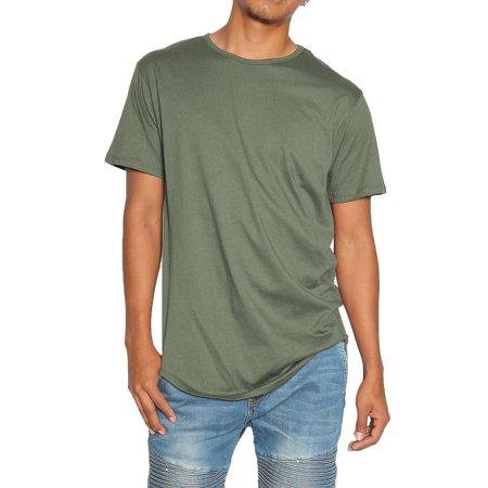 fba065d18bb EPTM - TheMogan Men s Eptm Original Extended Long Curved hem T-Shirt Tee  Olive Green XL - Walmart.com