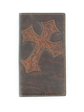 126e583bd8cf Product Image Nocona Western Wallet Mens Rodeo Tooled Cross Marbled Bark  N5487044