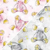 Stanton Fleece - David Textiles Anti-Pill Fleece Sleepytime Elephants Fabric By The Yard 60