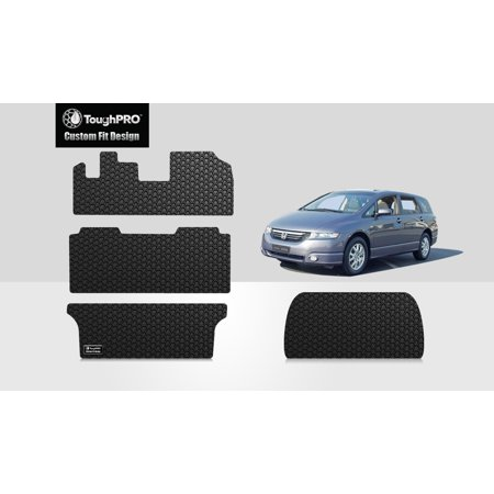 ToughPRO - HONDA Odyssey Full Set with Cargo Mats - All Weather - Heavy Duty - Black Rubber - 2003 Honda Odyssey Mats