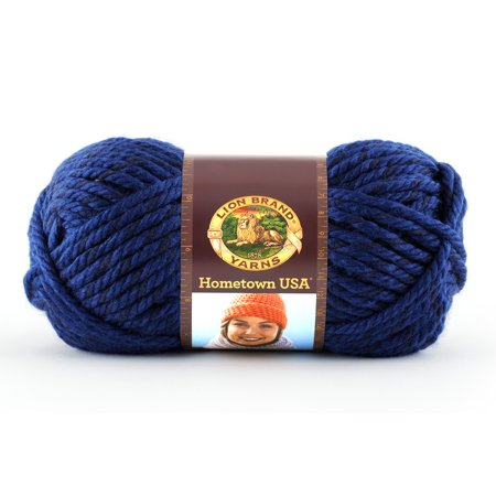Lion Brand Yarns Hometown USA Acrylic Fort Worth Blue Classic Bulky Yarn, 1 (Bulky Yarn Patterns)