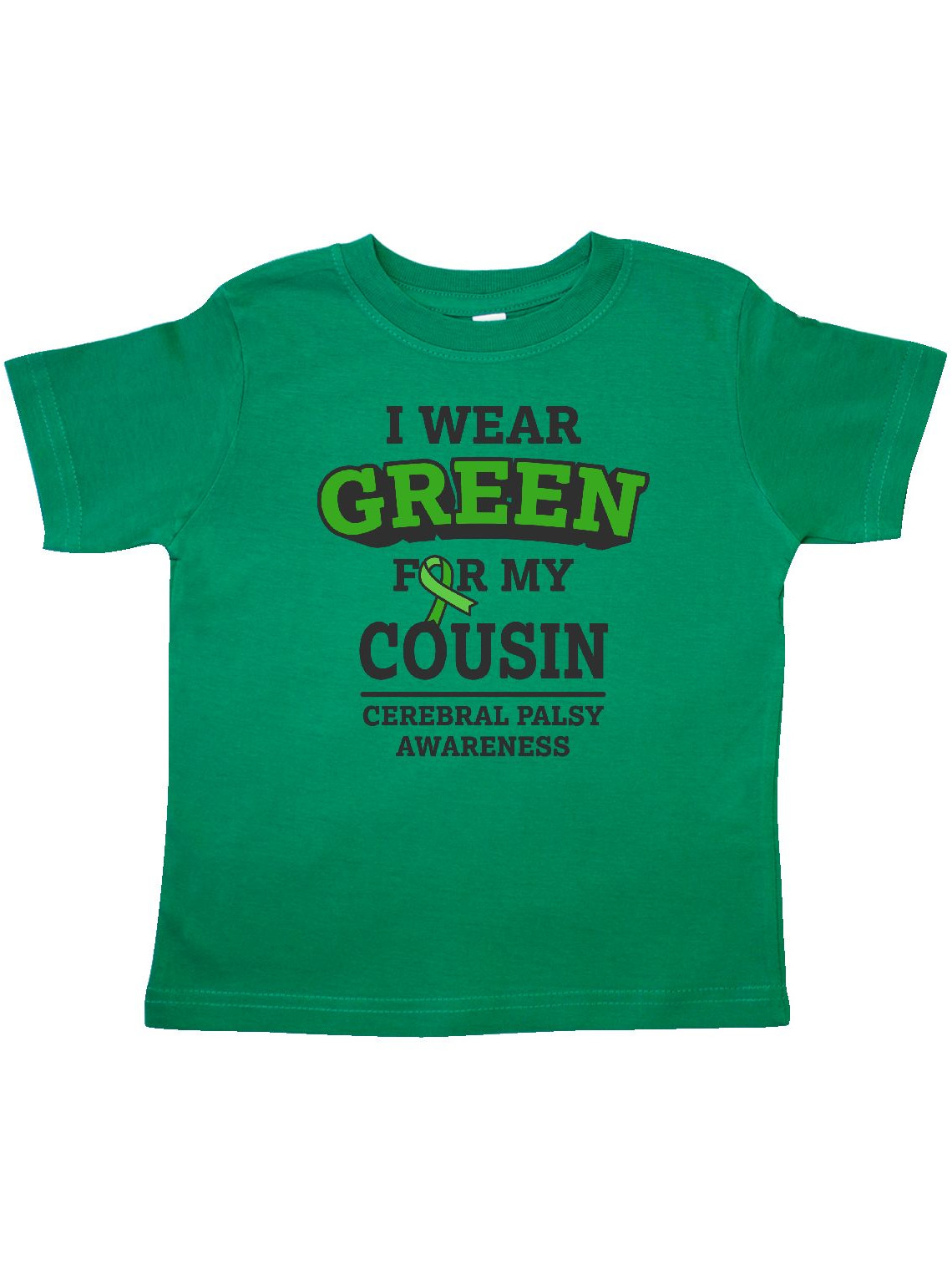 Cerebral Palsy Awareness Baby T-Shirt inktastic I Wear Green for My Cousin
