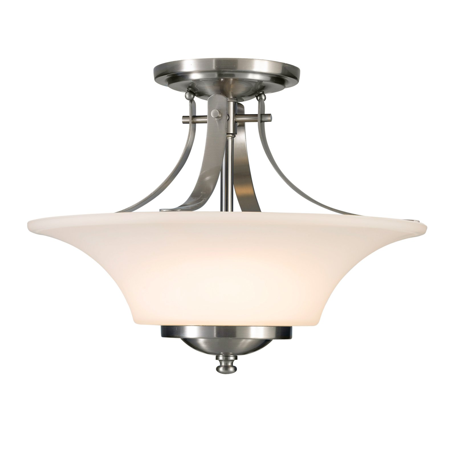 Feiss Barrington Ceiling Light 15W in. Brushed Steel by Murray Feiss