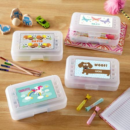 Personalized Fun Graphic Pencil Case-Butterflies - Personalized Pencil Case