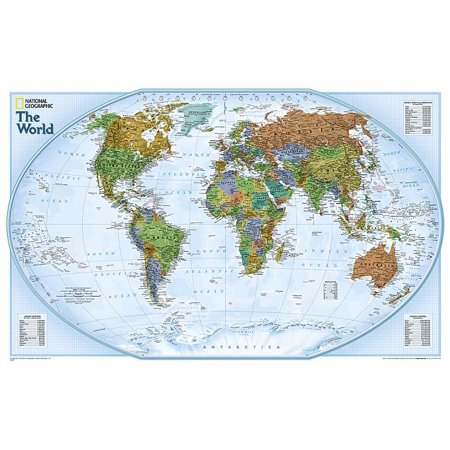 - National Geographic: World Explorer Wall Map - Laminated (32 X 20 Inches)
