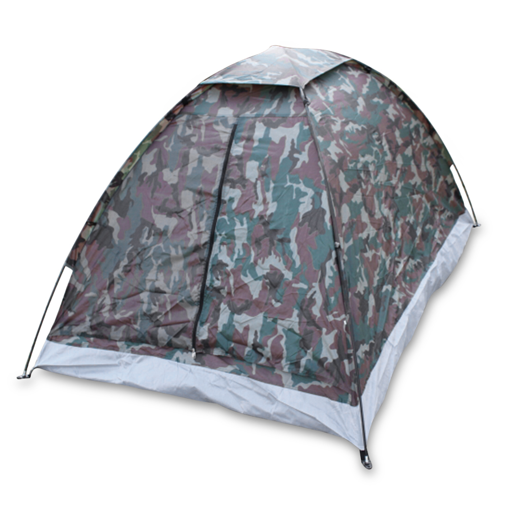 TOMSHOO Portable Outdoor Camping Tent for 2 Person Single Layer,Camouflage by